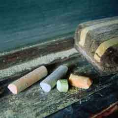 Chalk and eraser; Size=240 pixels wide